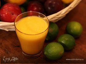 Сок из апельсина, лайма и манго