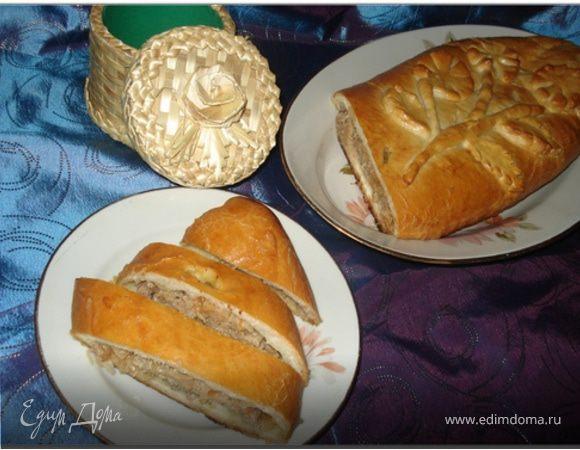 Кулебяка с квашеной капустой и мясом