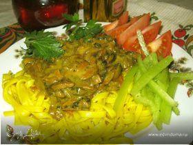 Макароны с грибным соусом (Pasta di funghi)