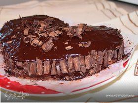 """Шоколадно-бананово-творожный торт """"Шикарный"""""""
