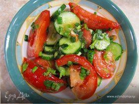 Салат из помидор и огурцов - что может быть нового?