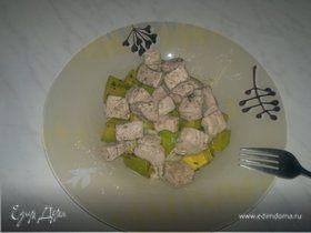 Кабачок, свинина и паста - просто и вкусно
