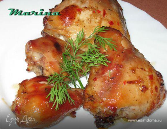 Курицa в медово-гранатовом маринаде