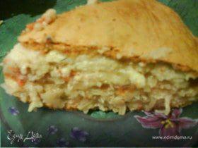 Пирог закусочный с капустой и сыром