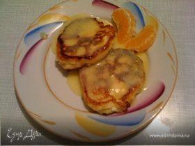 Ванильно-апельсиновые сырники с апельсиновым кёрдом