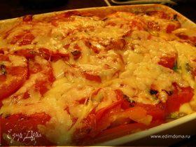 Запеканка из овощей-гриль и 2х видов сыра