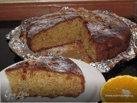 Ореховый пирог с апельсиновым сиропом по рецепту Юли Высоцкой