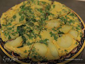 Испанский омлет со шпинатом