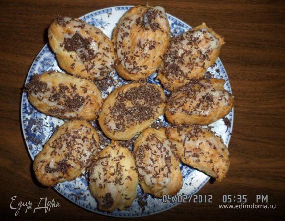 Эклеры с заварным кремом и шоколадом