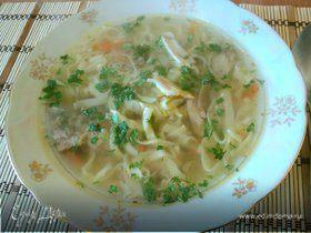 Суп с домашней лапшой из фазана