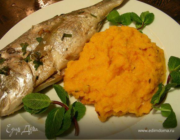 Гарнир: морковное пюре с имбирем и тмином