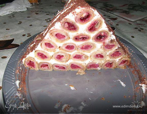 """Блинный тортик """"Избушка"""""""