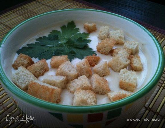 Фасолевый суп со сливочным сыром