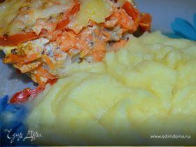 .Рыба с овощами.