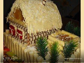 """Торт """"Жила зима в избушке"""""""