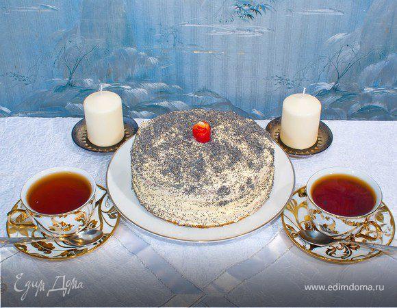 """Бисквитный торт """"Маковка"""""""