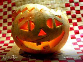 Тыква на Хэллоуин с ньёками!!!)