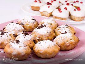 Аппетитные кексы с клюквой и шоколадом