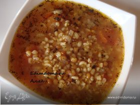 Суп из чечевицы с булгуром