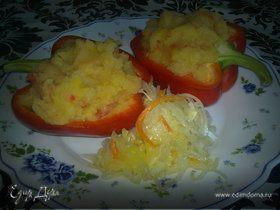 Картофельное пюре с перцами.
