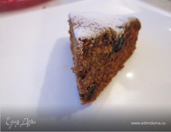 Кофейный пирог с черносливом (постный)