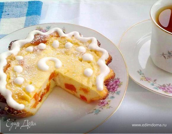 Творожный десерт с яблоком и курагой (для самых маленьких)