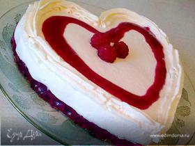 """Ягодно-творожный торт """"Признание"""""""