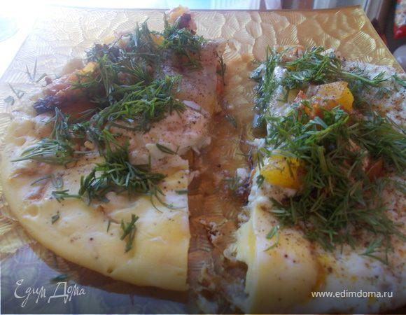 Яичница по-болгарски на завтрак