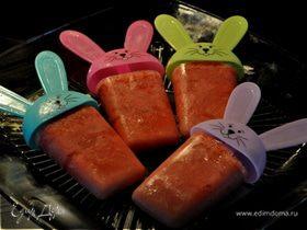 Фруктовый лед-Strawberry Orange Popsicles