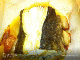 Белая рыба в духовке en papillote