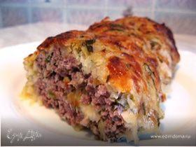 Мясной рулет в аппетитной картофельной шубке