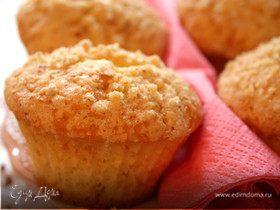 Лимонные кексы с миндальным штрейзелем