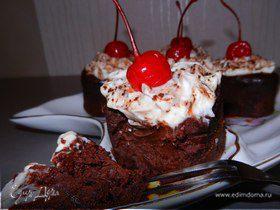 Шоколадные пирожные за 15 минут