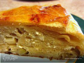 Яблочно-бананово-творожный пирог с тестом фило - без теста фило )))