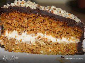 Морковно-миндальный торт с маскарпоне и шоколадом