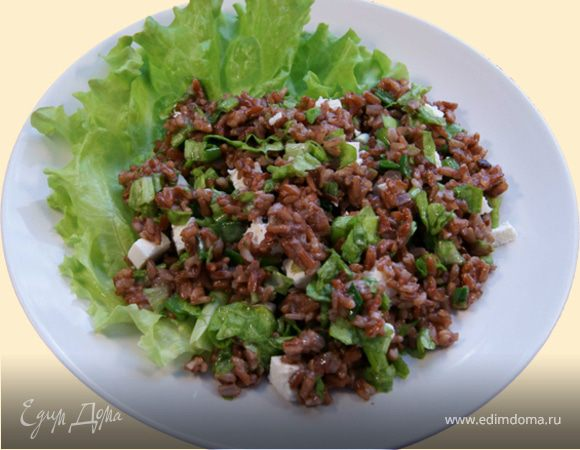 Салат из красного риса