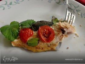 Форель с помидорами и базиликом
