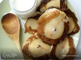 Яблочные оладьи с грушевым припеком от Ю. Высоцкой