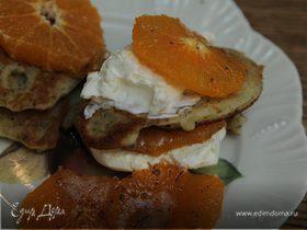 Ароматные оладьи с маком и мандаринами