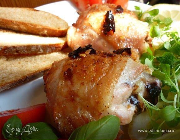 Острая маринованная курица в духовке. Pollo alla diavola
