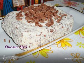 Творожная Пасха без яиц с тёртым шоколадом