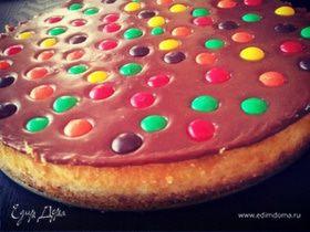 Торт «Яркие капли»