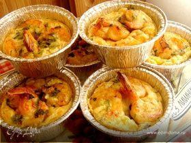 Клафути с креветками и сладкой кукурузой
