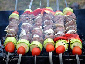 Шашлык с овощами + картошка