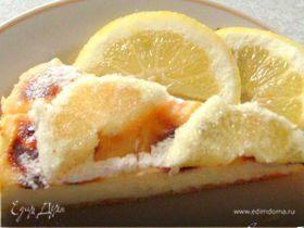 Лимонный пирог с заварным кремом