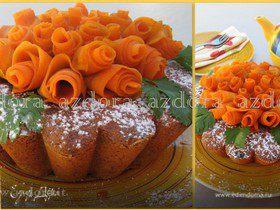 Морковно-миндальный торт