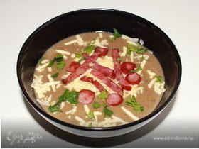 Сливочный грибной крем-суп с копчёностями