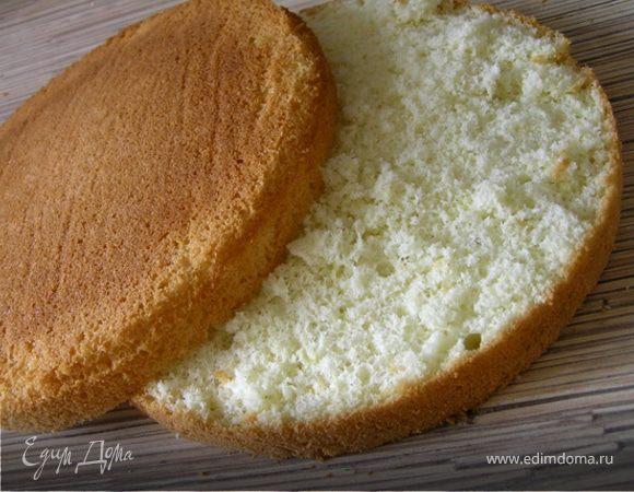 Как сделать воздушный бисквит для торта