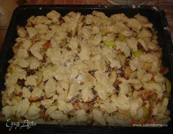 Еврейский сметанный яблочный пирог