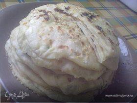Лепёшки с творогом, адыгейским сыром и картофелем